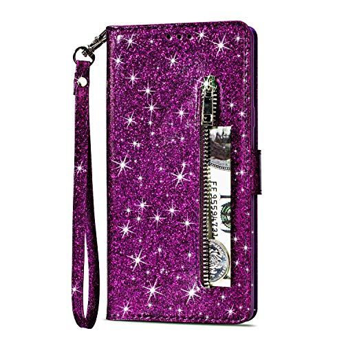6cbbd12872b5 Glitter Wallet Case for Samsung Galaxy A6 Plus 2018,Yobby Samsung ...