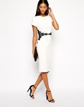 Enlarge ASOS Pencil Dress with Lace Waist Detail