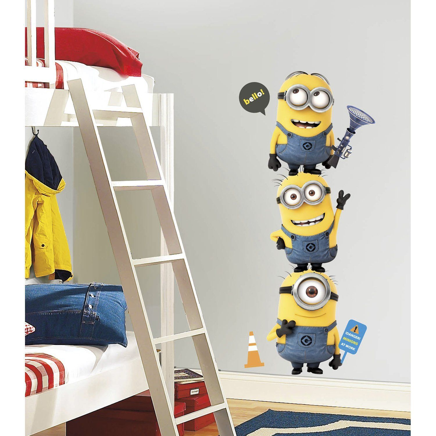 Roommates Deable Me 2 Minions Giant L And Stick Wall Decals Minion Bedroom Kids
