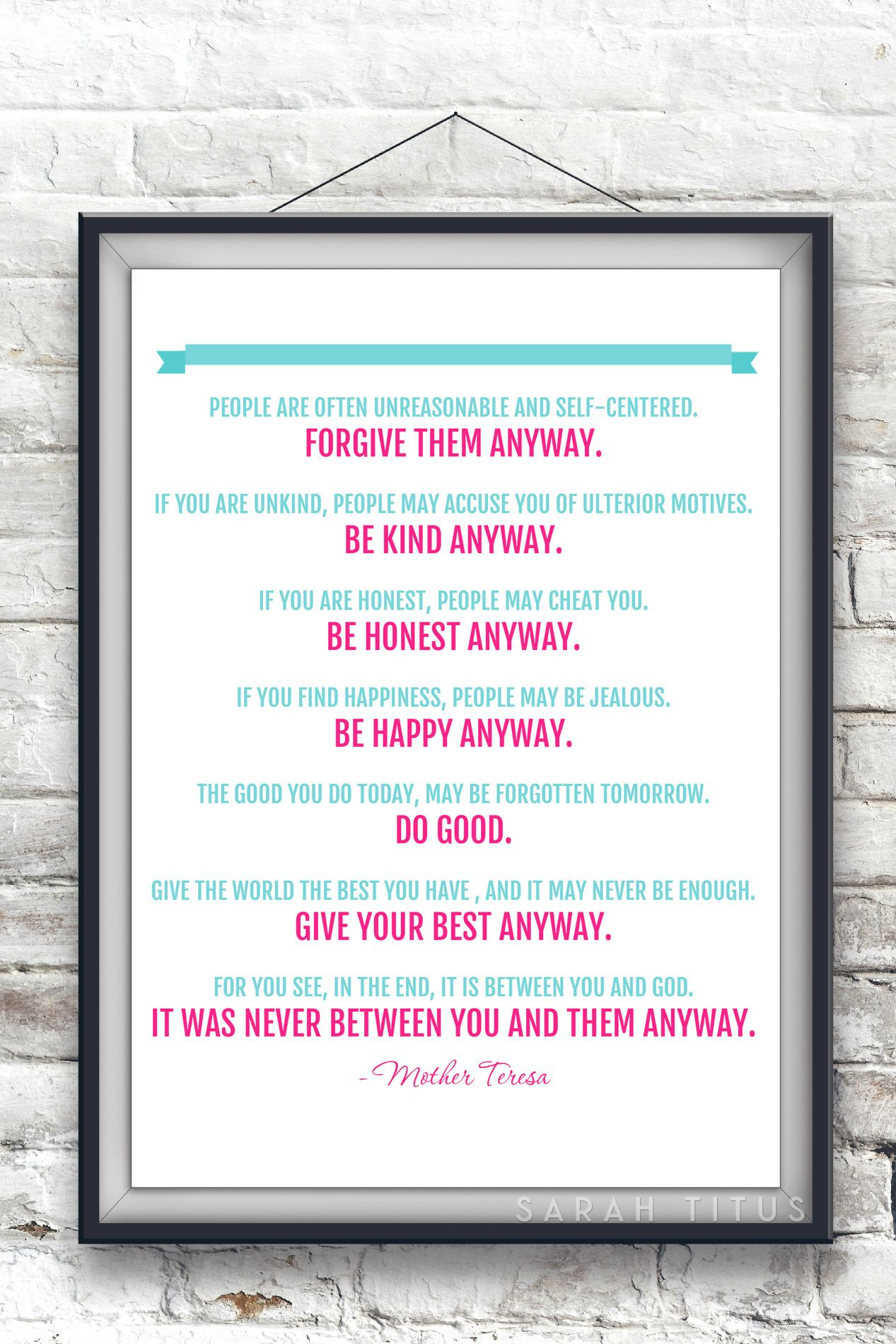 Free Mother Teresa Quote Printable