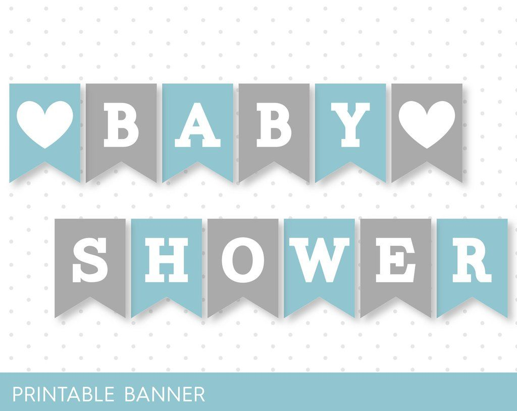 photo relating to Free Printable Baby Shower Banner named Blue banner, Gray banner, Oh kid banner, Oh boy banner