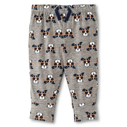 Baby Boys' Dog Print Pants Grey-Circo�