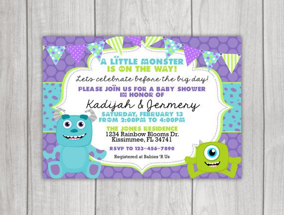 Monsters inc inspired baby shower by littlerainbowblooms on etsy pink monsters inc inspired baby shower invitation filmwisefo