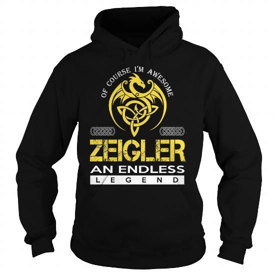 Awesome Tee ZEIGLER An Endless Legend (Dragon) - Last Name, Surname T-Shirt Shirts & Tees