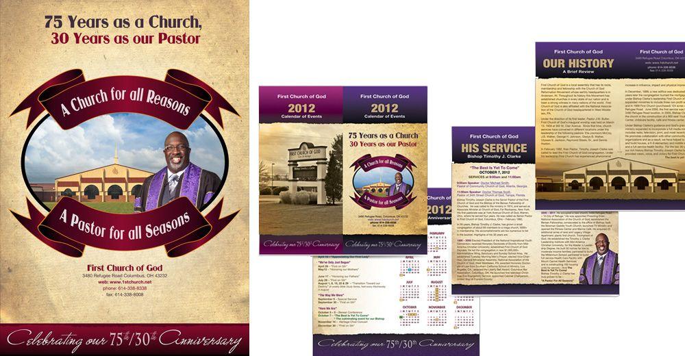 Church Anniversary Program Cover Design Wedding Program