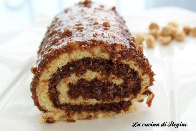 Photo of Rotolo di pasta biscotto con crema rocher | La cucina di Reginé ☼