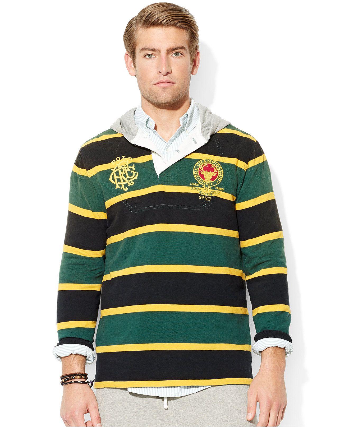 Polo Ralph Lauren Striped Heritage Rugby Hoodie Hoodies
