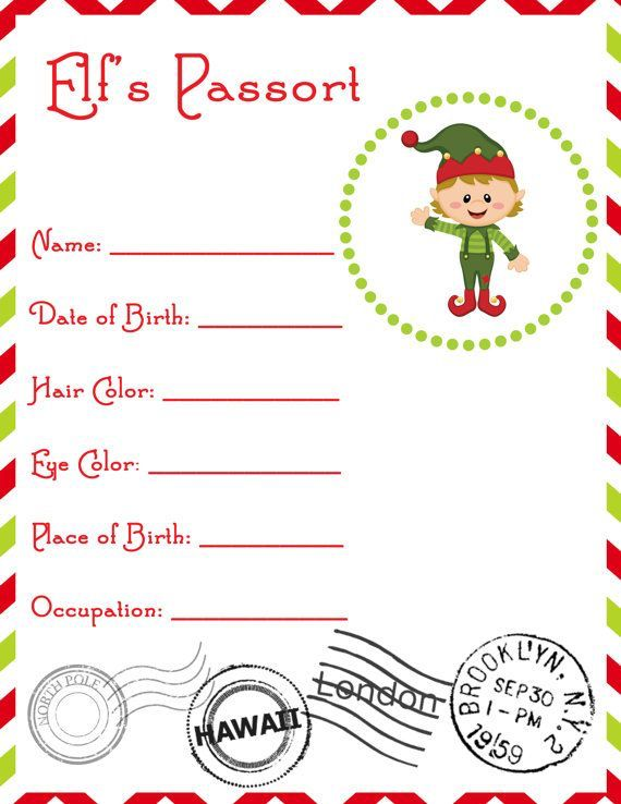 Elf Birth Certificate  Teddy  Co    Birth Certificate