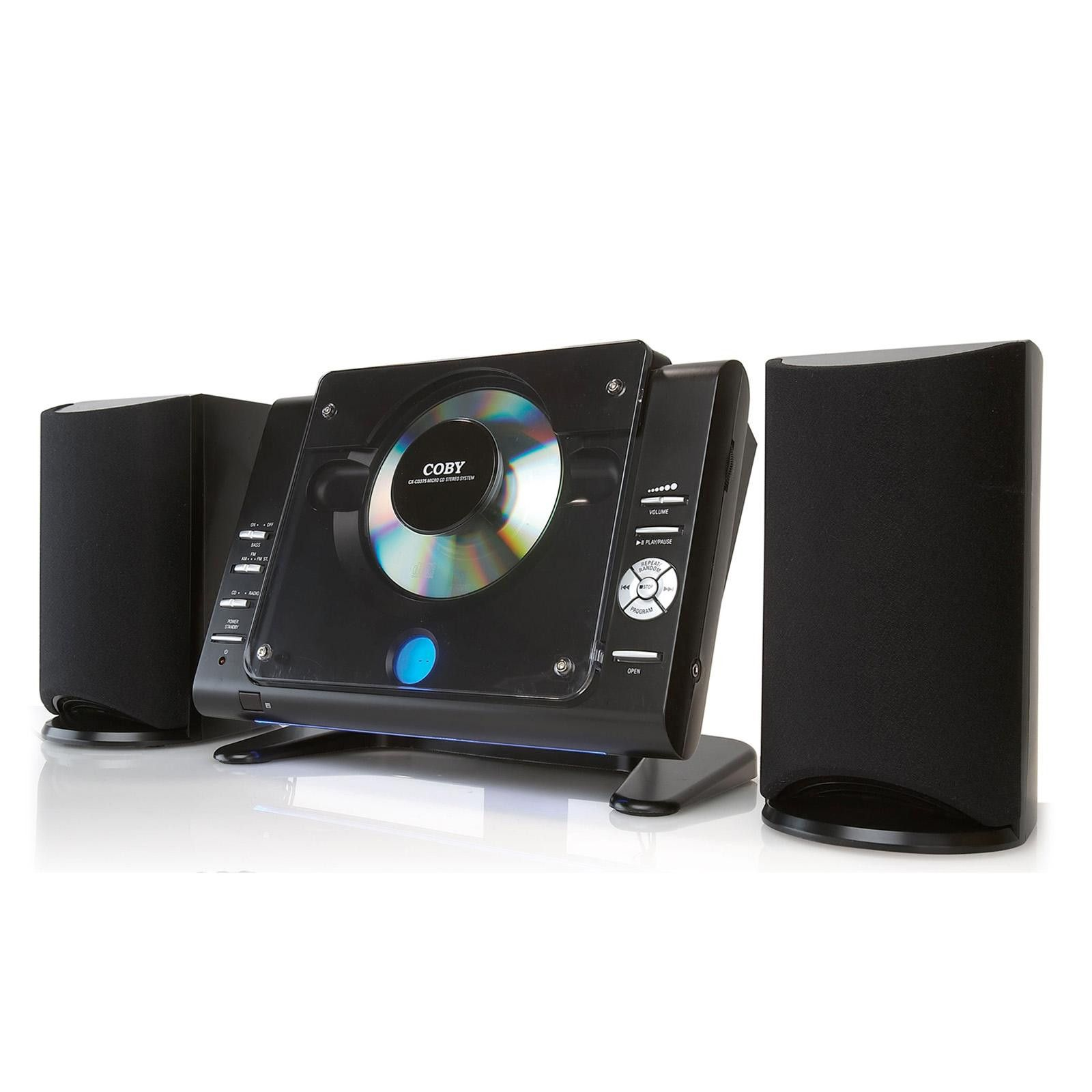 Coby Cxcd377bk Stereo Desktop Mini Audio System (Black