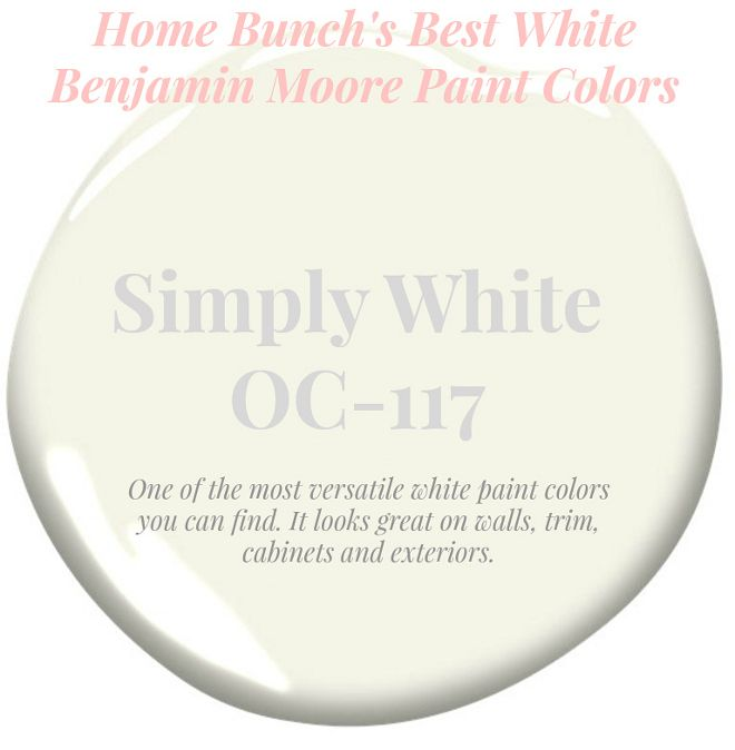 Garden Centre: Simply White_OC-117 One Of The Most Versatile White Paint