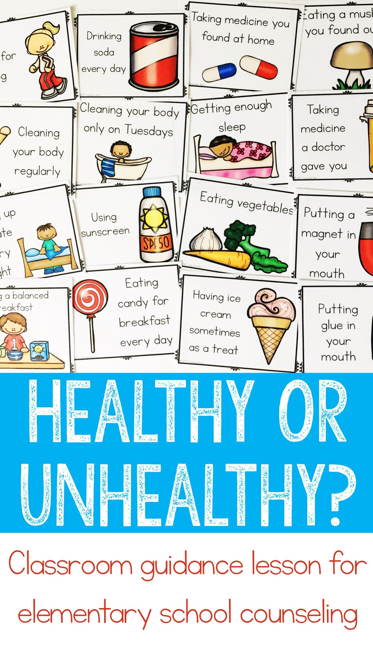 Healthy Choices Classroom Guidance Lesson for Early Elementary ...