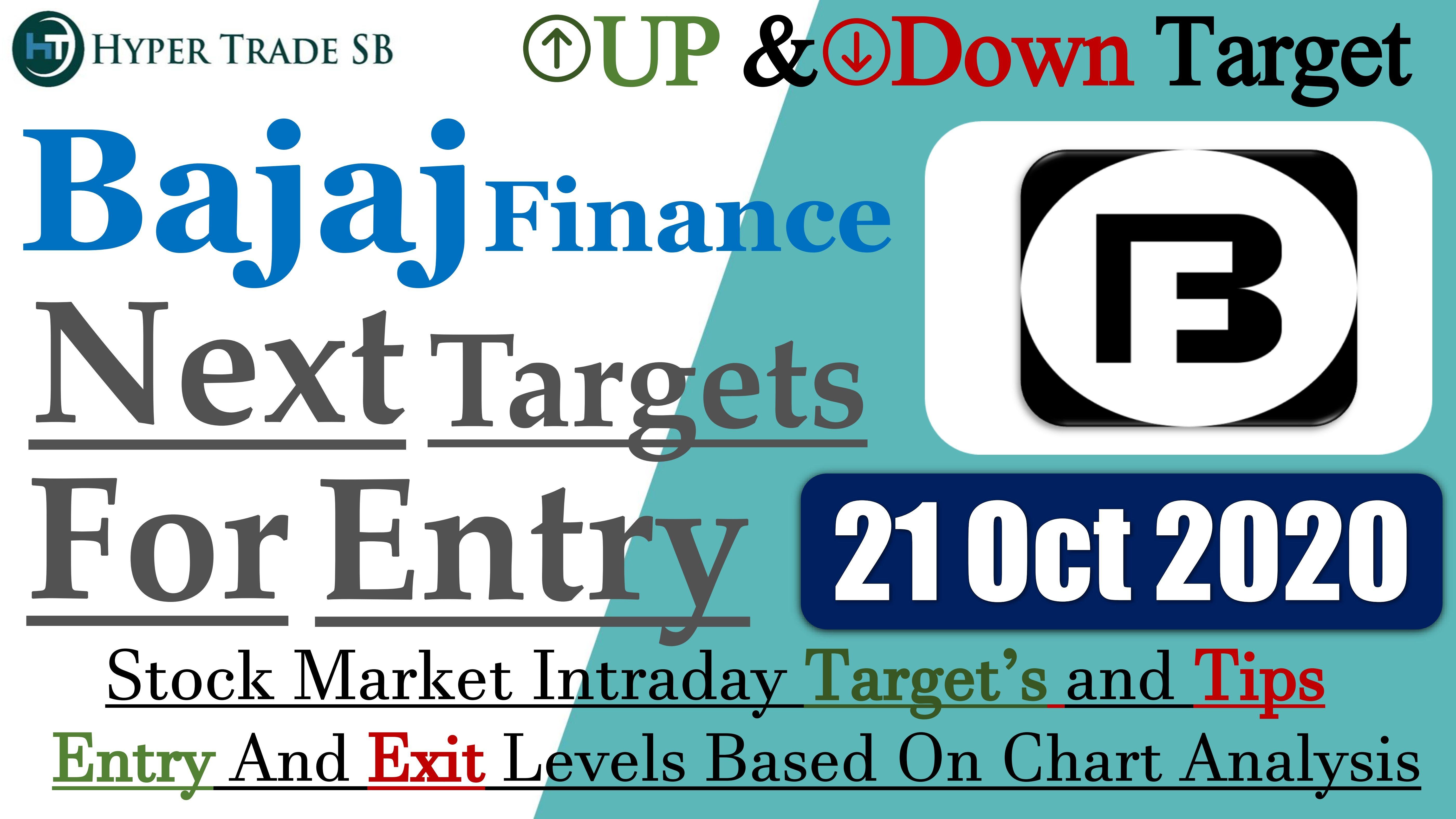 Bajaj Finance Share Target 21 Oct Bajaj Finance Intraday Tips Bajaj Share News Bajaj Finance Targets In 2020