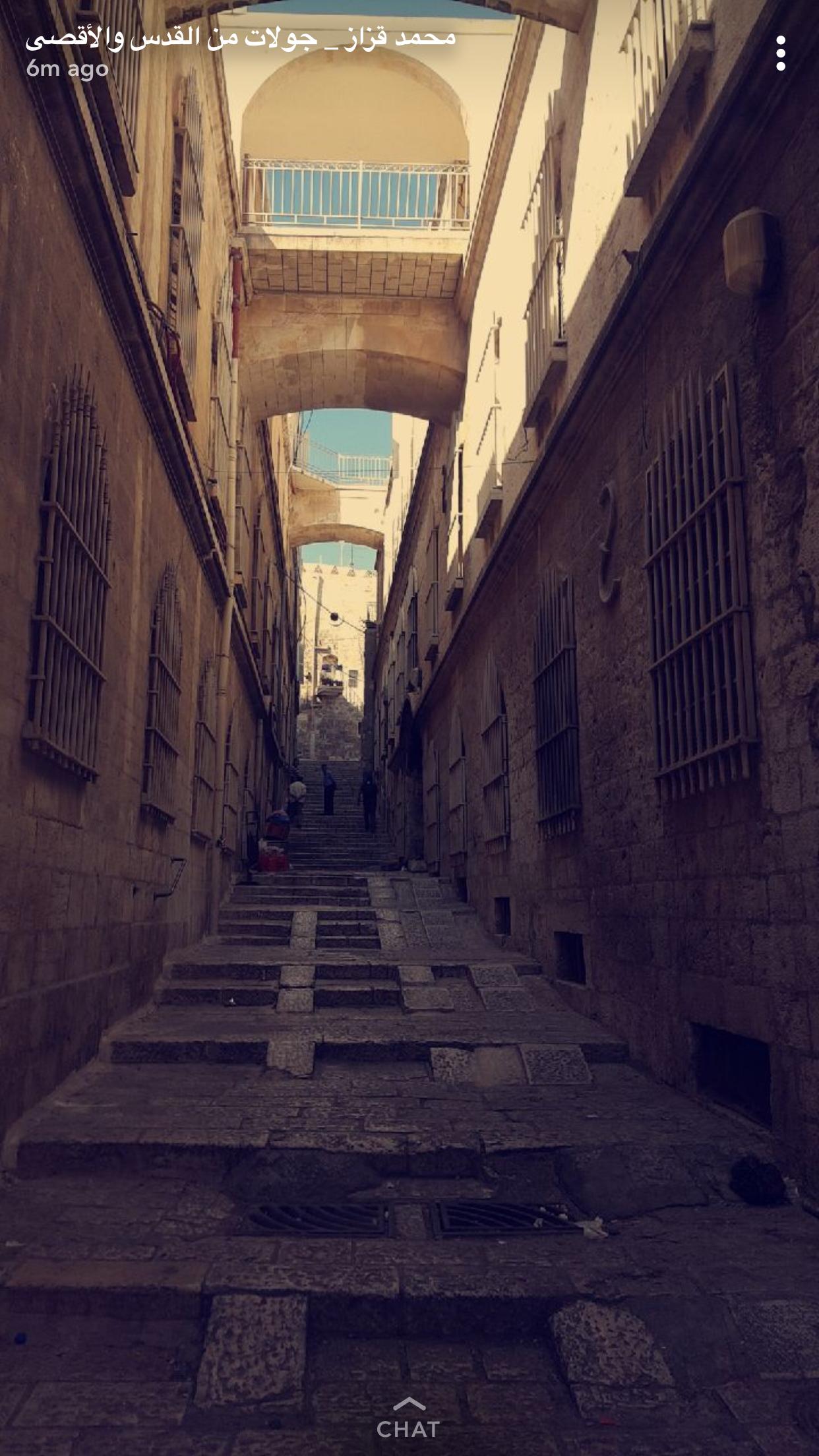 شوارع القدس قصة خرافية Suggested Snapchat To See Jerusalem More Closer محمد قزاز جولات من القدس و الأقصى Earth Capitals Road
