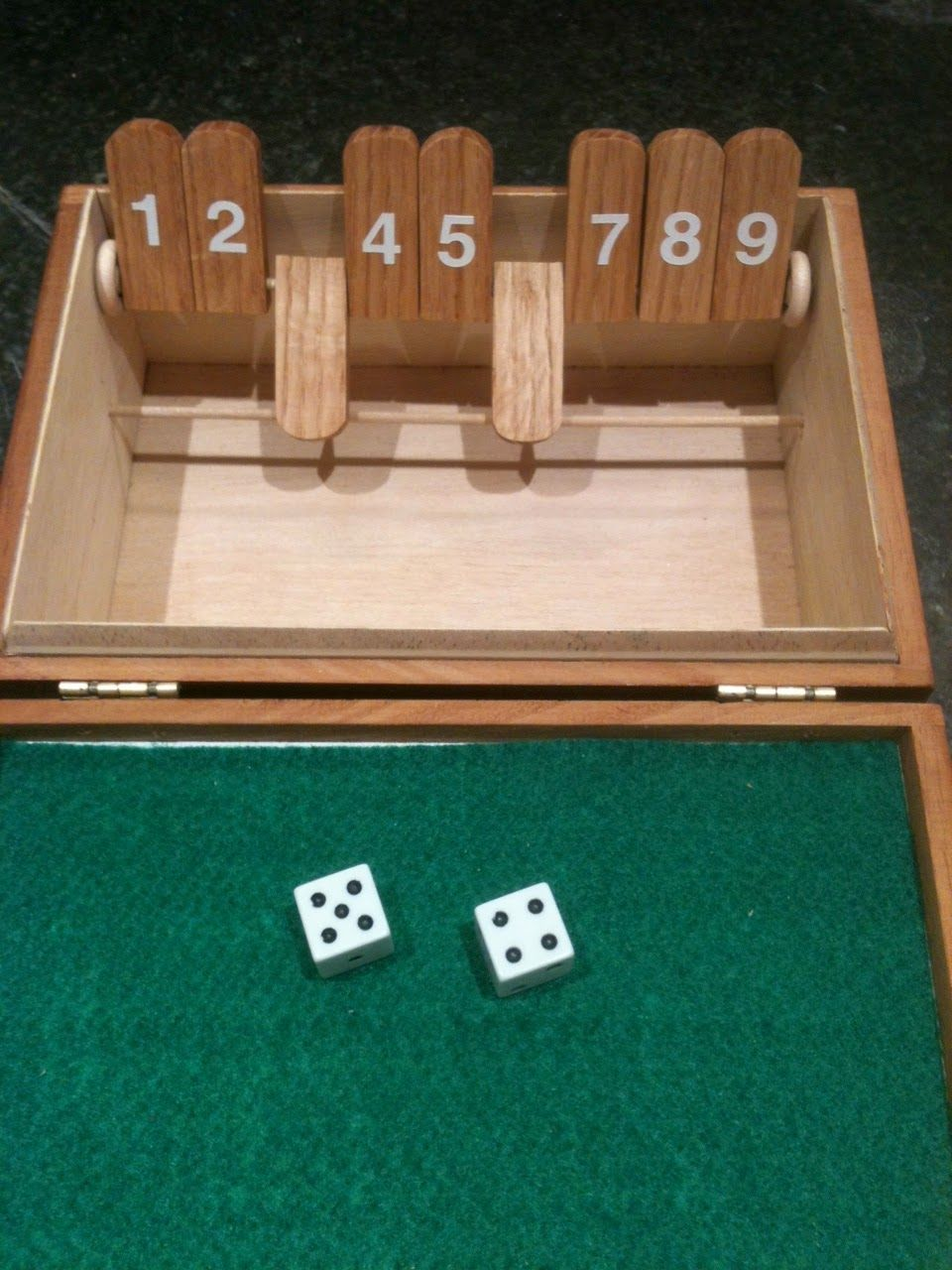 making a shut the box game with a cigar box ~ toy making dad