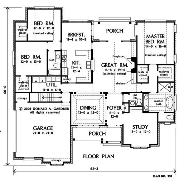 Elegant Floorplan The Yankton House Plan
