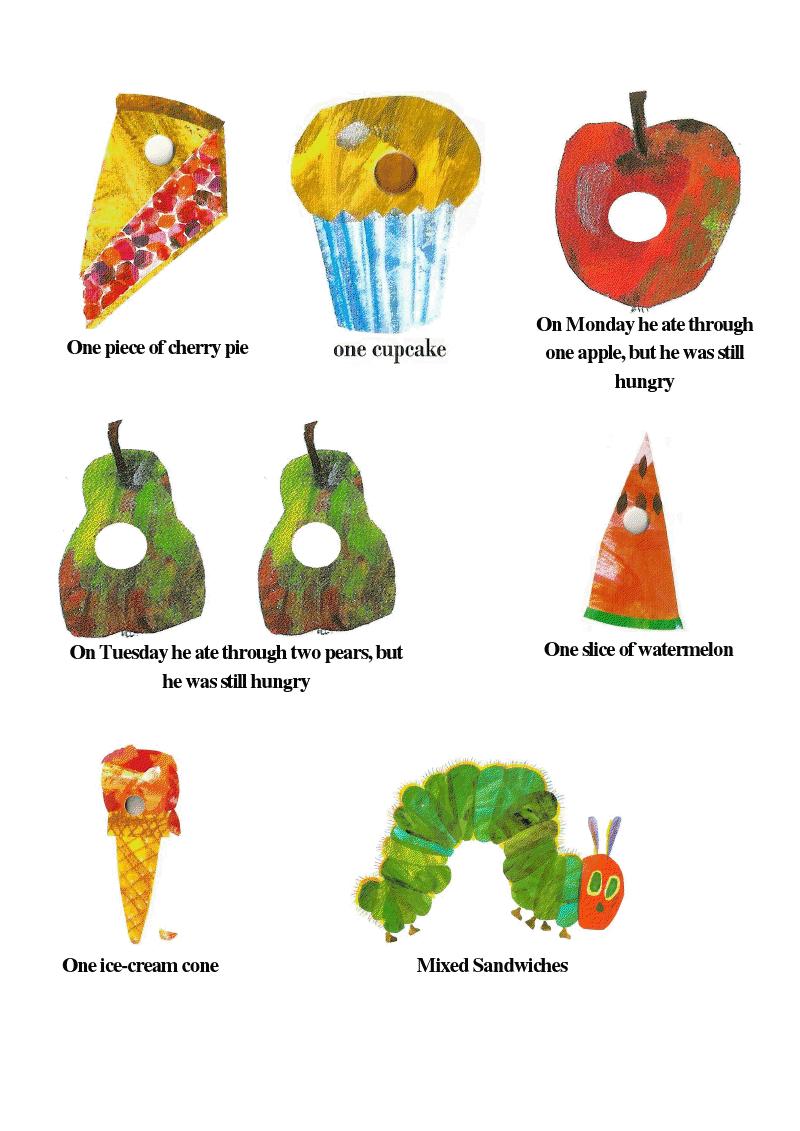 Very Hungry Caterpillar Food Labels.pdf - Google Drive | school ...
