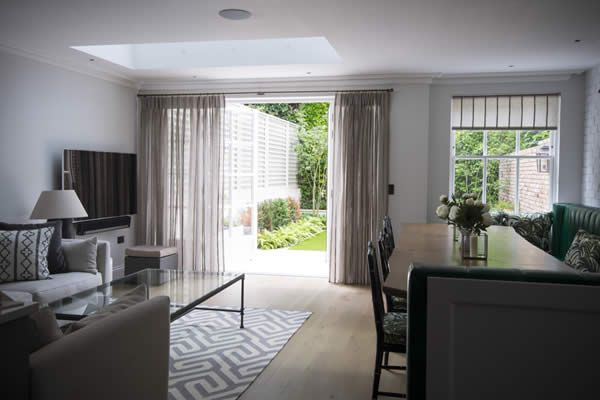 Curtains and Blinds North West London voile curtains for bifold