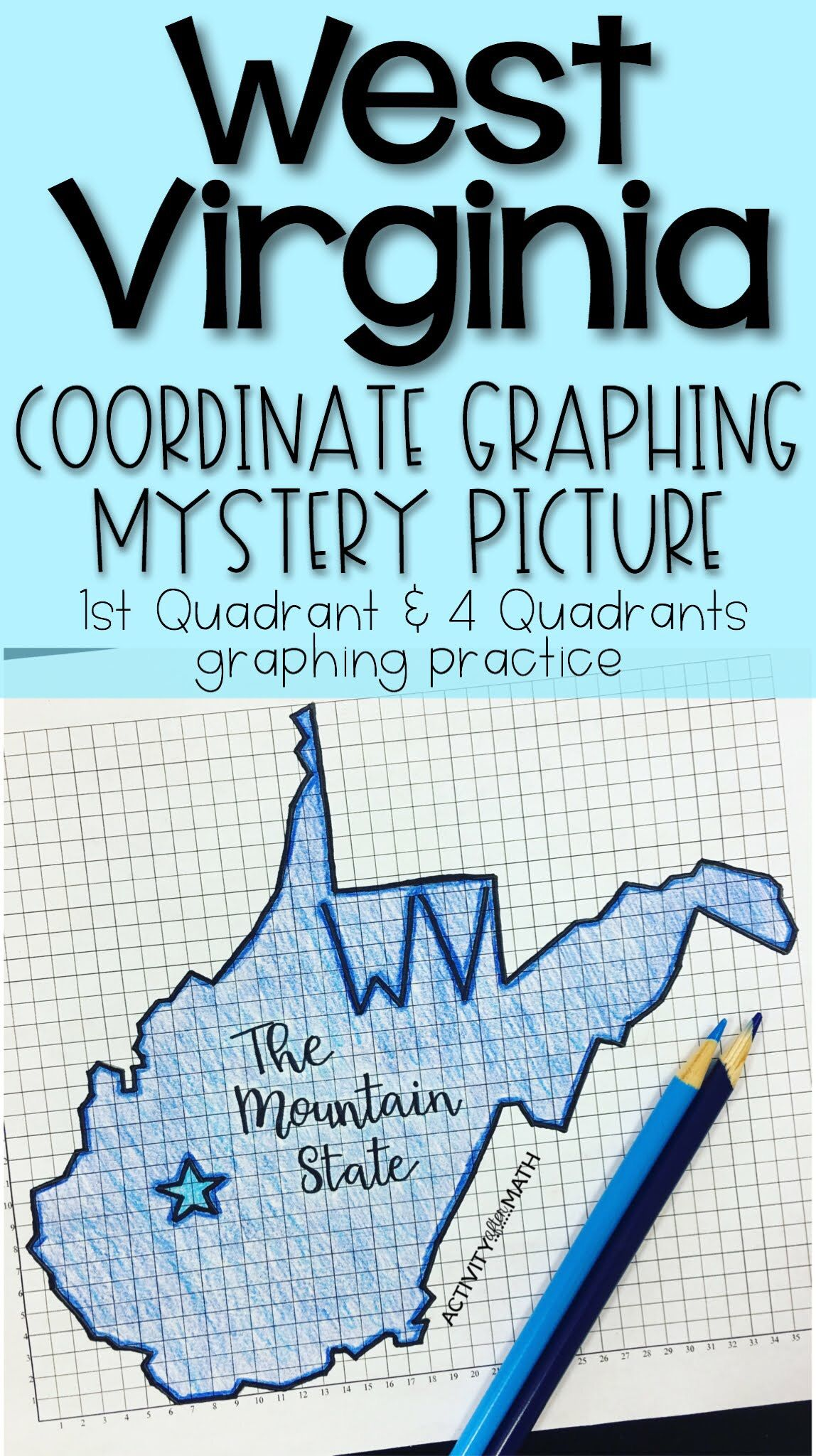 West Virginia Coordinate Graphing Picture 1st Quadrant