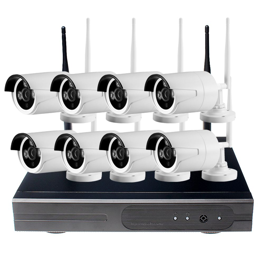 CCTV System 720P NVR 4/8PCS P2P 720P HD Outdoor Wireless Wifi IP ...