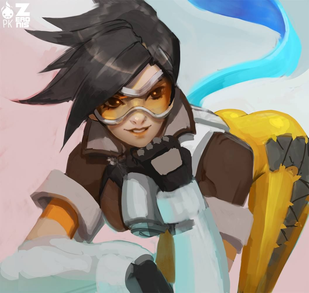 Paul Kwon - Tracer Fan Art  Overwatch  Overwatch Tracer -7549