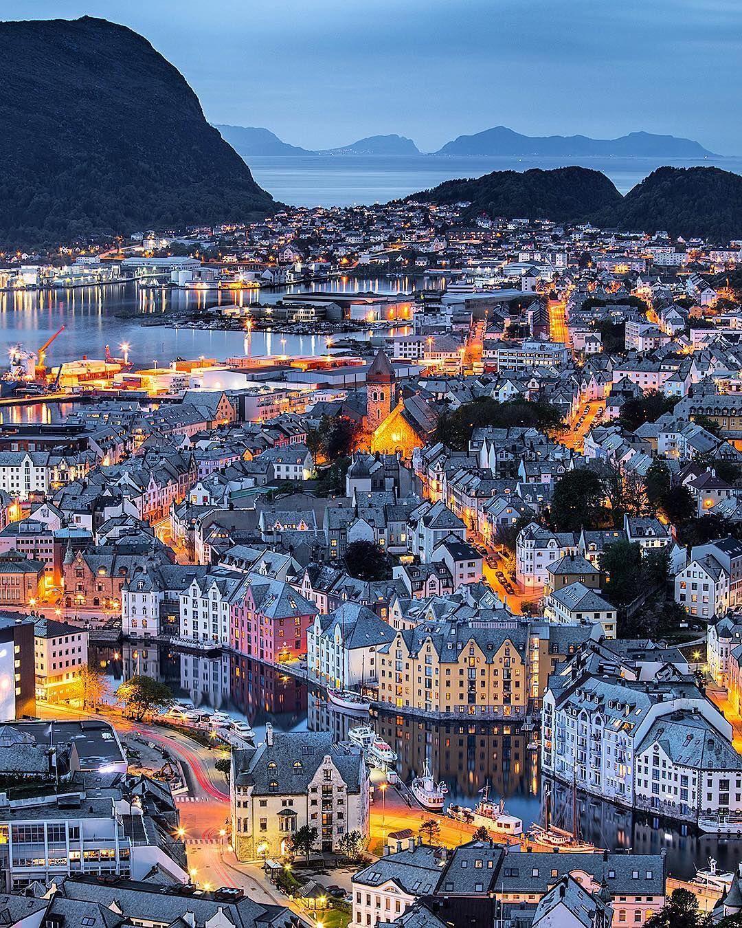 Alesund Norway Alesund Rejse Tromso