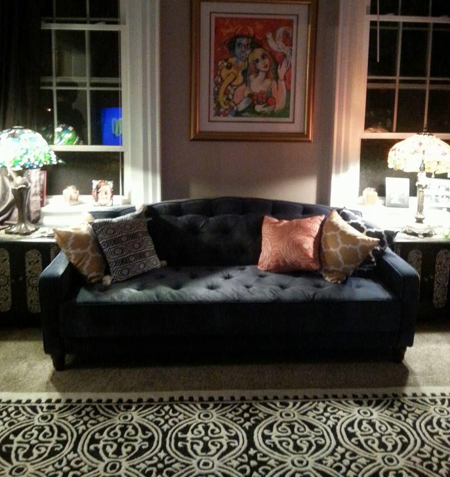 Novogratz Vintage Tufted Sofa Bed In Velour Multiple Colors Walmart Com Tufted Sofa Gorgeous Sofas Sofa