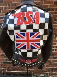 Details About Vtg Men S Motorcycle Jacket Cool 59 Club Studded Punk