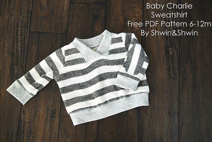 Charlie Sweatshirt | Nähen für kinder, Nähen und für Kinder