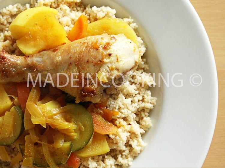 Couscous au poulet express   Recette   Couscous poulet