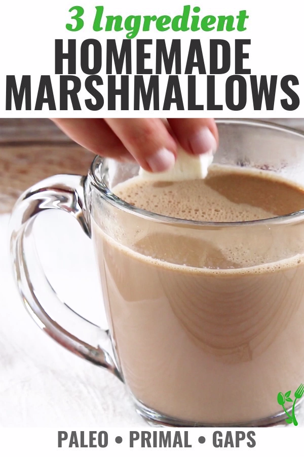 Healthy Homemade Marshmallows #healthymarshmallows