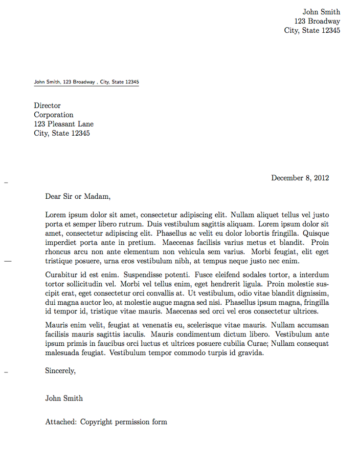 Full Size Formal Letter Template Business letter format