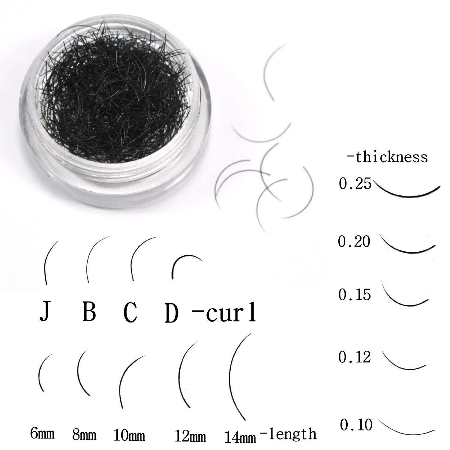 02d67af3983 Premium Individual Black 0.5 Gram C Curl 0.15 Thickness 6mm Length False  Eyelash Fake Eyelash Extension