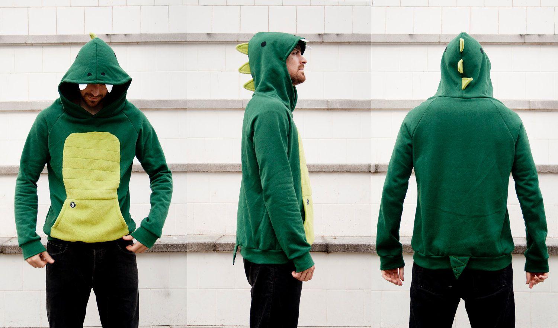 0cc20394b1 Dinosaur Hoodie (Unisex Adult Size