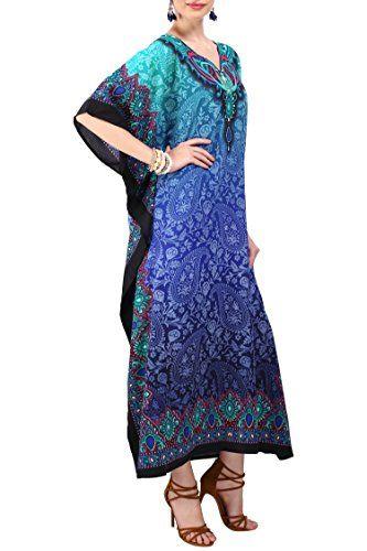 /étiquette 29 ,46-52 Teal Bleu Looking Glam New Ladies surdimensionn/é Maxi Kimono Kaftan Tunique Kaftan Robe