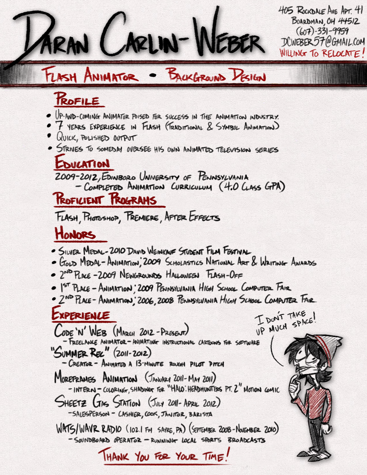 Animator resumes - Google Search | Cool Resumes | Pinterest