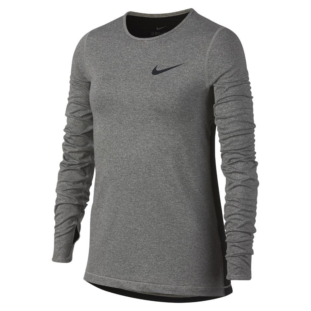 0fe75d4458 Nike Pro Warm Big Kids' (Girls') Long Sleeve Top Size Medium (Grey ...