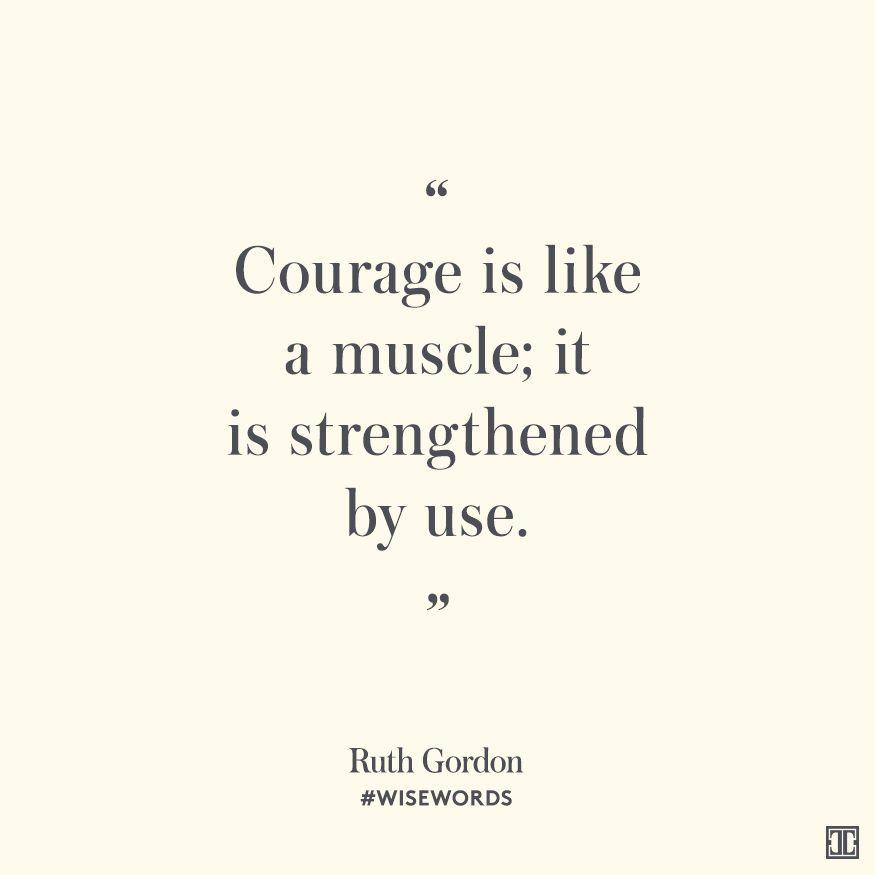 #WiseWords from Ruth Gordon. Palabras BonitasSer ...