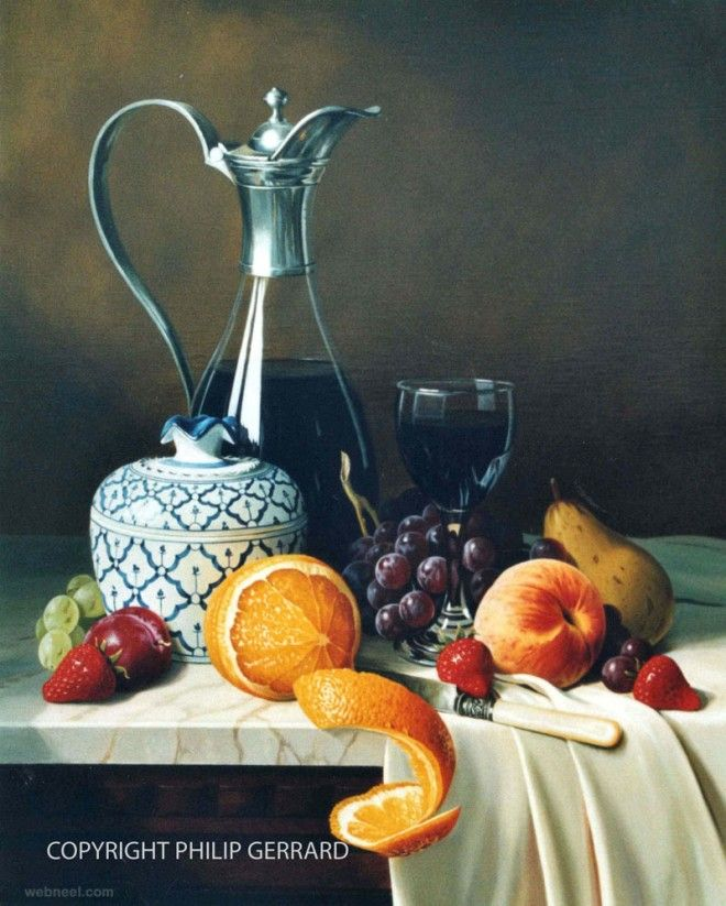 25 Mind Blowing Still Life Oil Paintings by Philip Gerrard ...