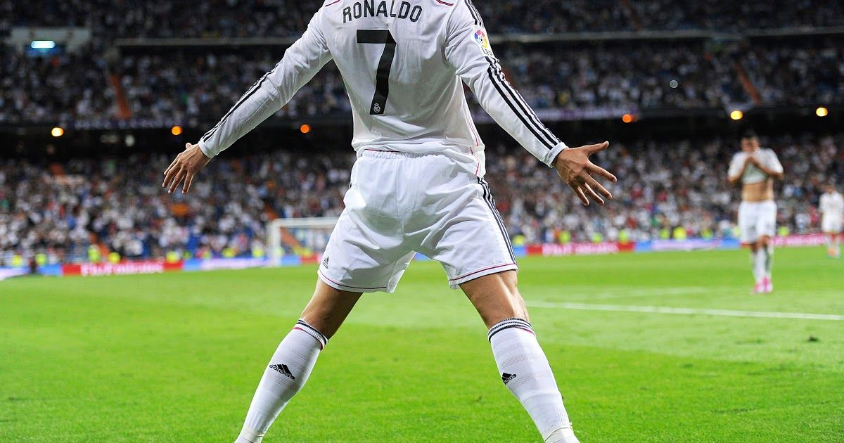 Jumping Celebration Cristiano Ronaldo Real Madrid 2014