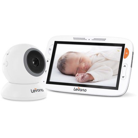 Levana® Alexa™ 5 inch LCD Video Baby Monitor with Temperature Monitoring, Feeding/Nap Timer, Two Way Intercom, White