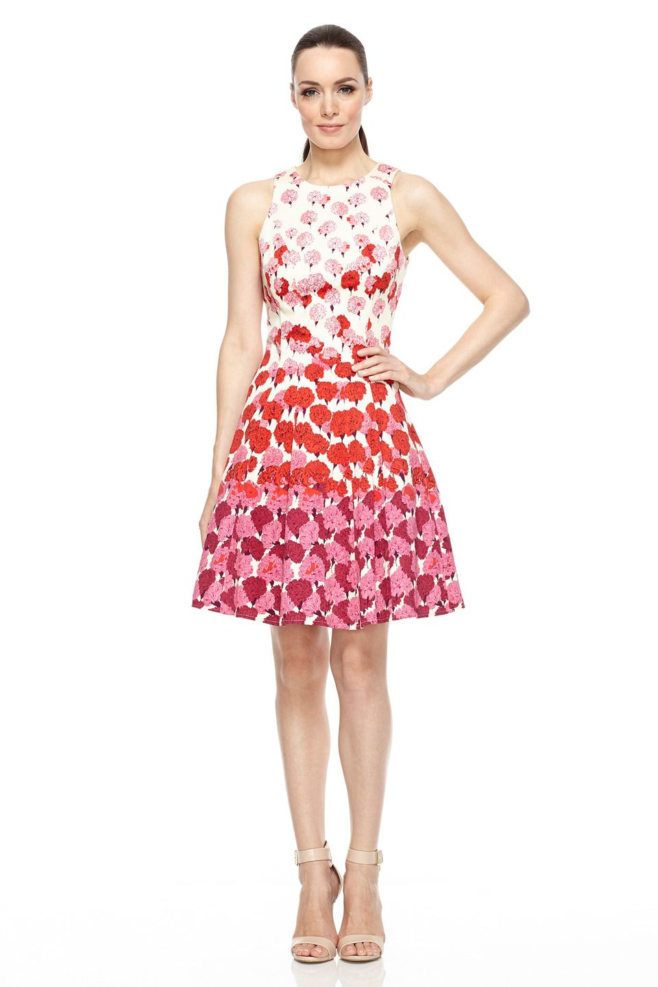 Floral Fit and Flare Dress | StyleBook | Pinterest