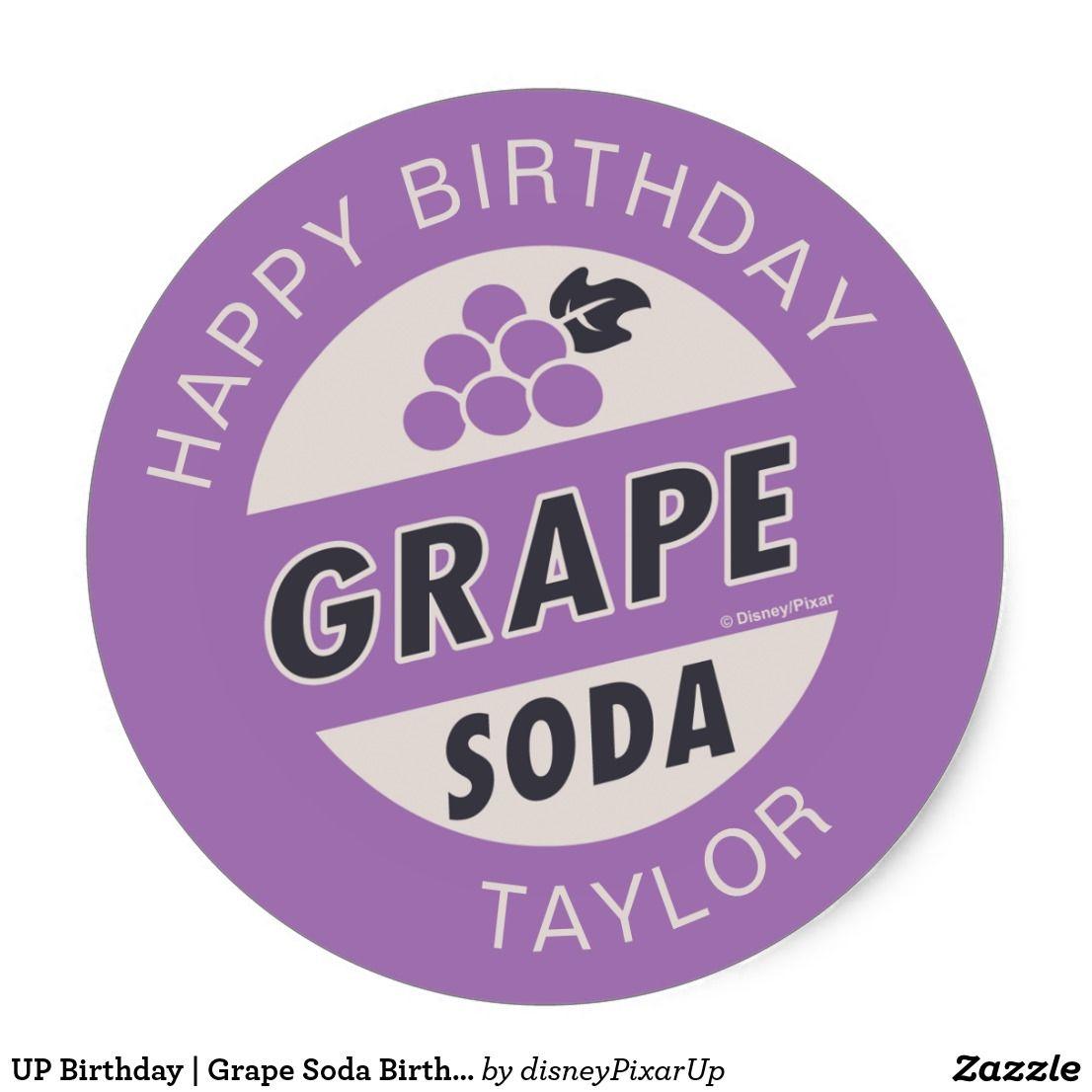 Grape Soda Birthday Classic Round Sticker