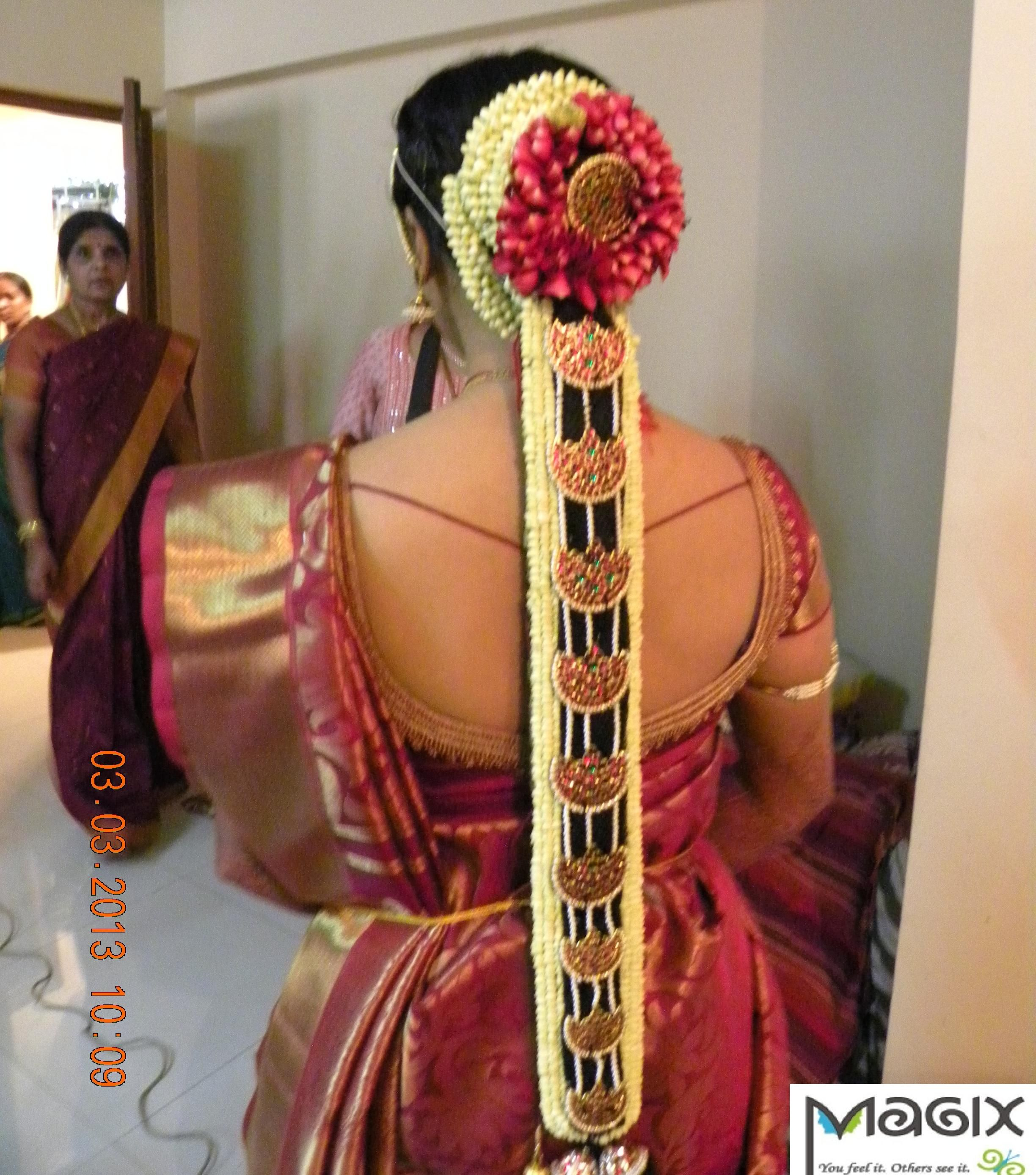 southindian bride withbridal jade, muhurtham bridal makeover