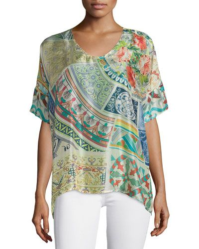 a2706855ded4a TBL24 Johnny Was Collection Neill Oversized Printed Tunic ...