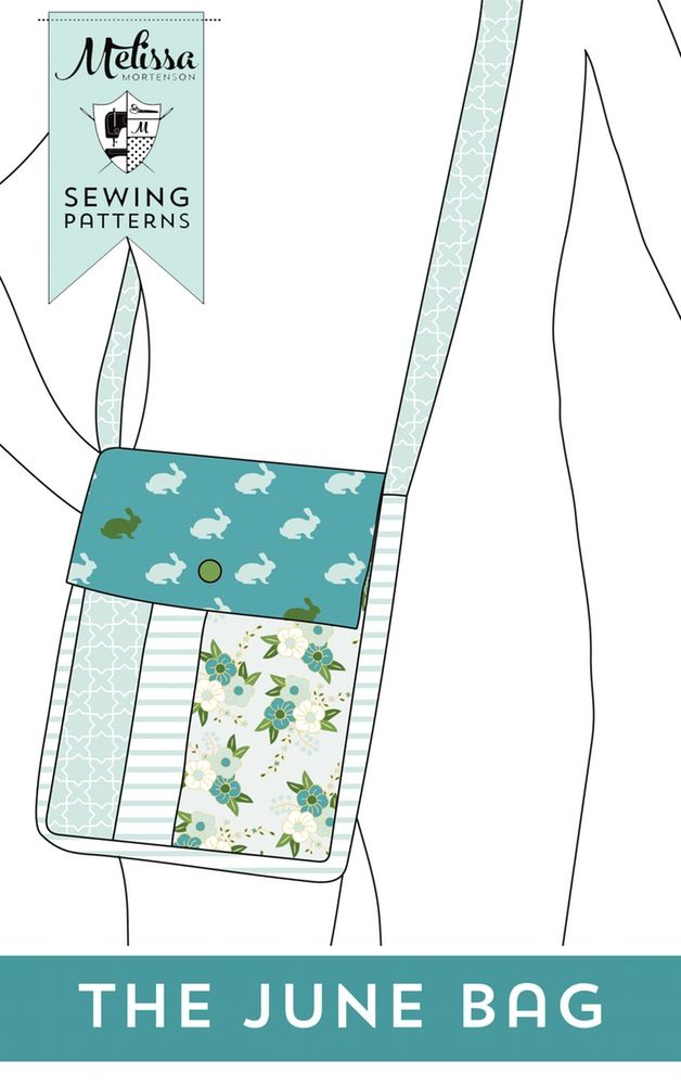 Image of June Bag, Mini Messenger Bag Sewing Pattern PDF ...