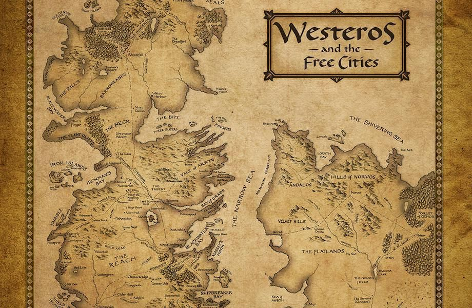 It is a photo of Game of Thrones Printable Map regarding game throne tv series