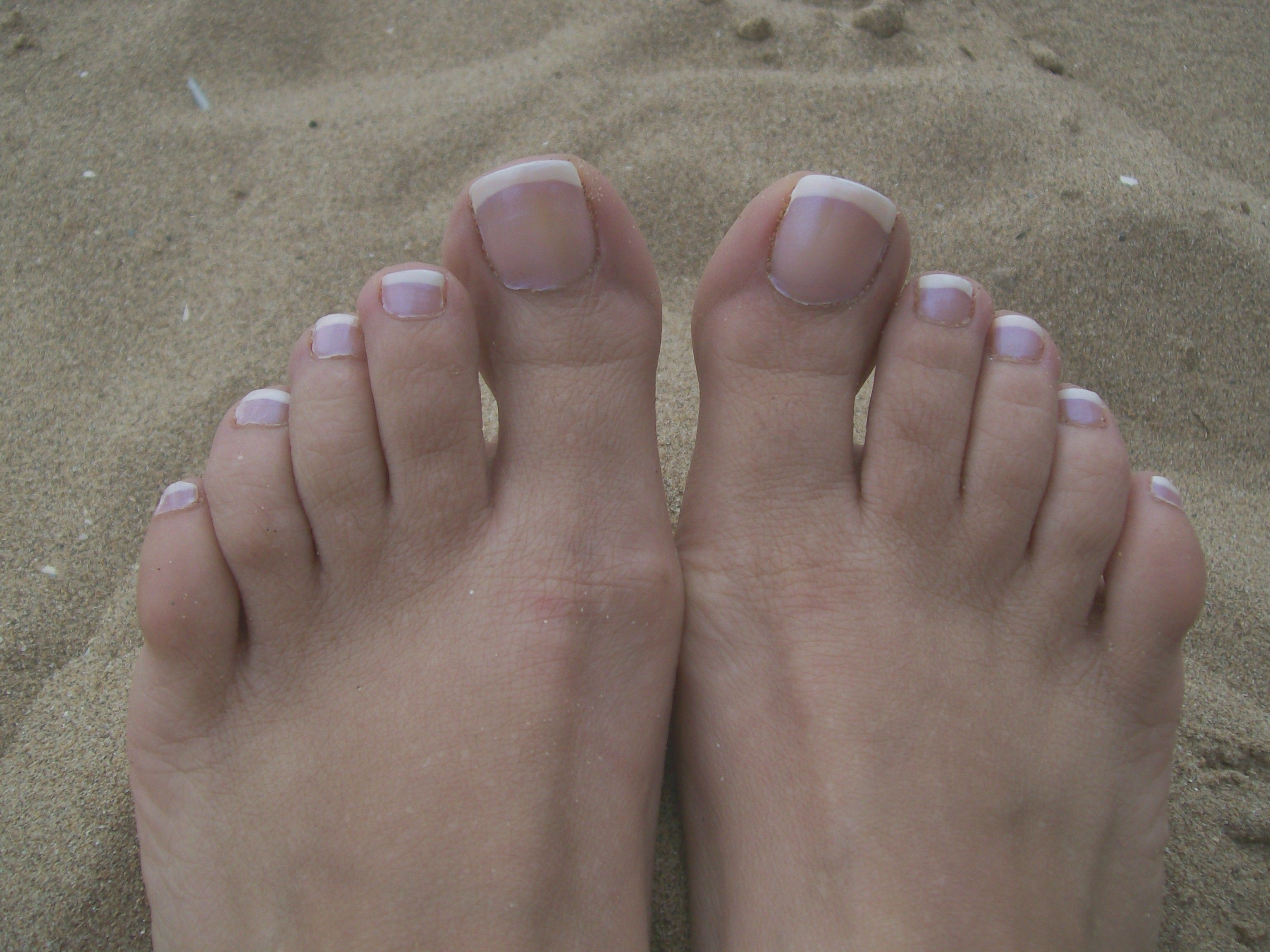 French manicured toes, my favourite summer foot treat!   Hair ...
