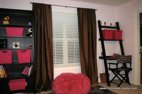 Pink and brown teen girl bedroom decorating cynthia theo mcbride bedroom decorating ideas for Brown and red bedroom decorating ideas