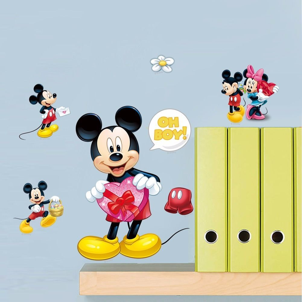 Diy Cartoon Mickey Mouse Mural Wall Sticker Decals Kids Child Room ...
