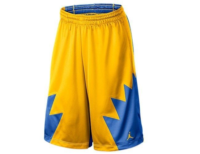3ce3fd1bc669 Air Jordan Nike Jumpman Retro 5 Mens Basketball Shorts Blue Gold   404386-703  Jordan  Athletic